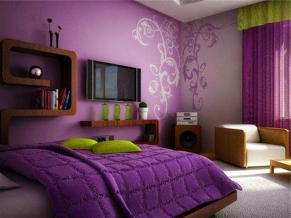 An accent wall in a bedroom or living room makes it stylish and vibrant
