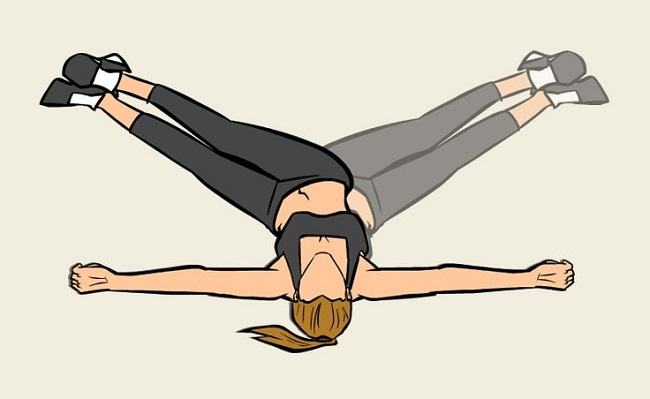 Back stretching out your knees