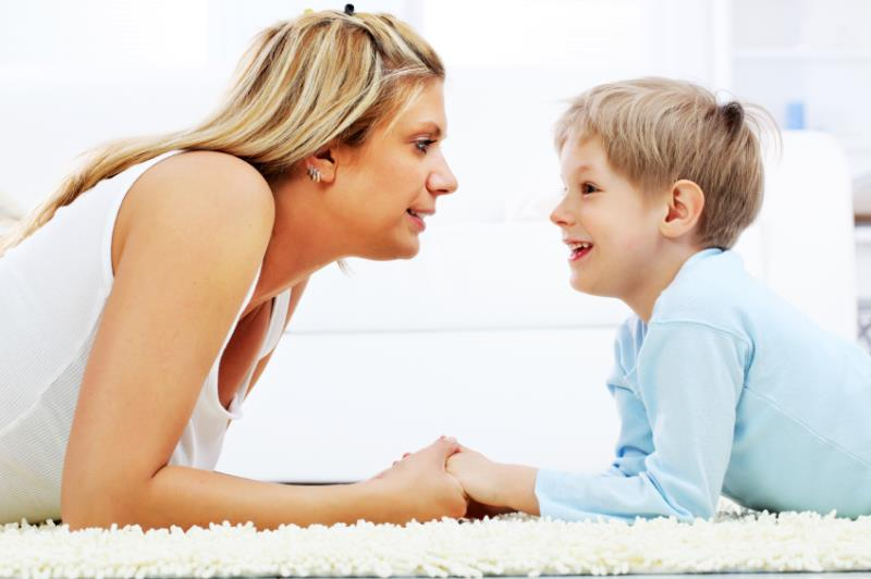Children may love telling you stuff the moment they see you