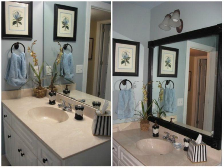 Frame your mirrors to make them look more luxurious