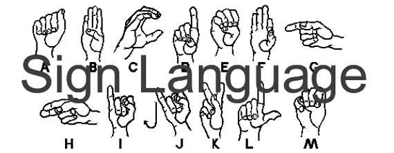 Is body language related to sign language?