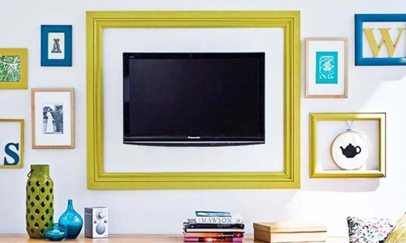 Make a colorful frame for your TV