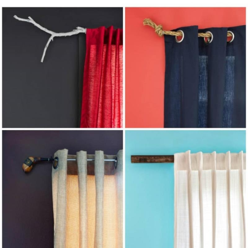 Use designer rods for curtains