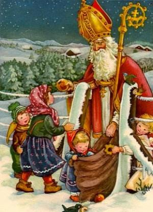 Stockings and Santa Claus