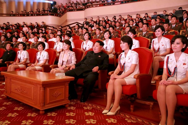 kim jong un watching movie with pleasure squad