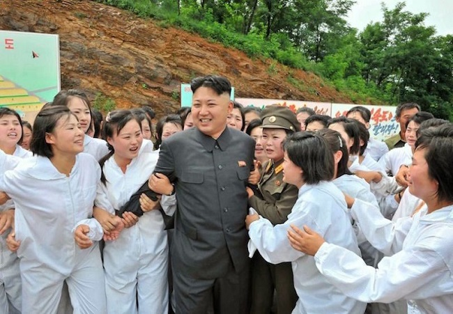 Kim Jong UN with pleasure squad