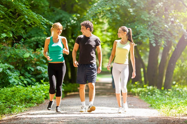 Walking is a great way to keep fit