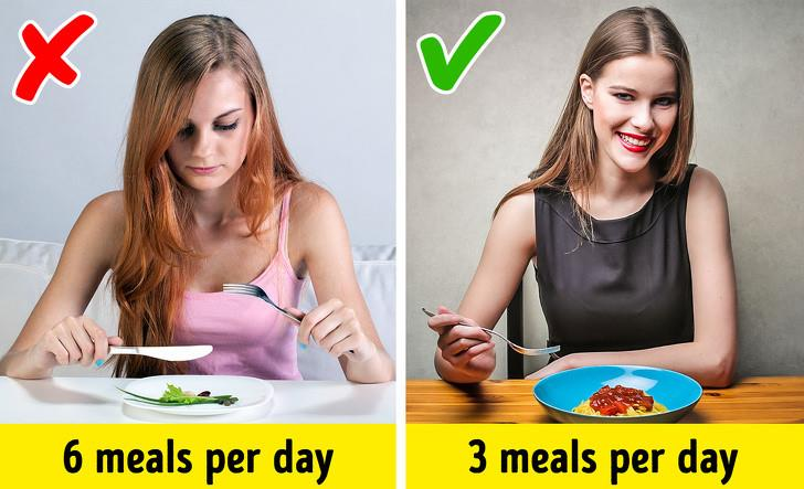 Myth 3: Eat smaller portions frequently throughout the day
